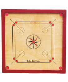 India Carromss Kids Wooden Carrom Board - Red Brown