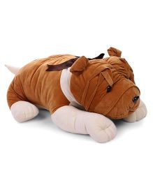 Liviya Bull Dog Soft Toy Brown And White - 62 cm