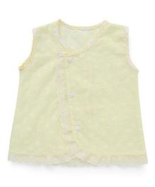 Chocopie Sleeveless Jhabla - Lemon