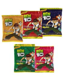 Ben 10 Holi Herbal Gulal Pack Of 5 - Multi Color (Colors May Vary)