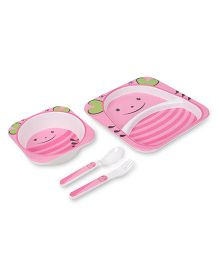 Cello Melmoware Dish Set Kid's Hop In The Zoo Lady Bug - Pink