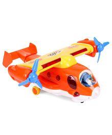 Mitashi Skykidz Captain Jack Aeroplane Toy - Orange And Yellow