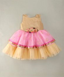 M'Princess Flared Party Dress - Fawn
