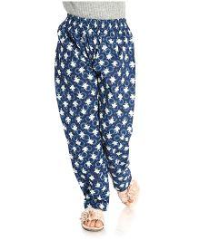 Little Pockets Store Leaf Printed Pajama - Blue