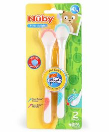 Nuby Hot Safe Spoons Pack Of 2 - Pink Aqua