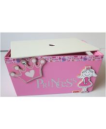Kidoz Princess Motif Utility Container With Lid - Pink
