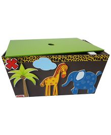 Kidoz Animals Motif Utility Container With Lid - Multi Color