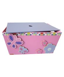 Kidoz Butterfly Motif Utility Container With Lid - Pink