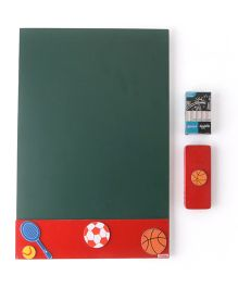 Kidoz Black Board Sports Theme - Red