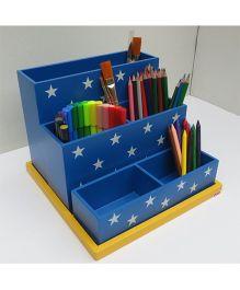 Kidoz Desk Organiser With Stars Print - Blue
