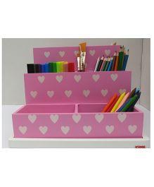 Kidoz Desk Organiser With Stars Print - Pink