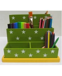 Kidoz Desk Organiser With Stars Print - Green