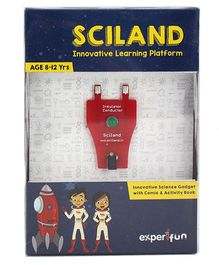 Edspark Educational Science Learning Gadget Kit with Comic Book SCILAND Series - Red Green Black