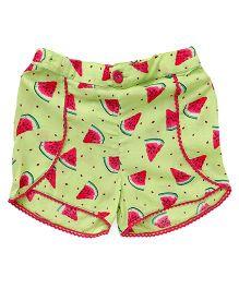 Beebay Shorts Watermelon Print - Light Green