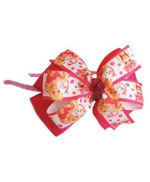 Reyas Accessories Girl Print Floral Hairband - Pink & White