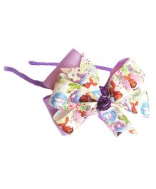 Reyas Accessories Character Printed Bow Hairband - Purple