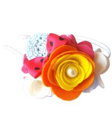 Reyas Accessories Big Flower Hairband - Multicolor