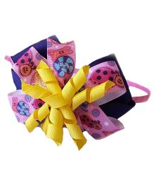 Reyas Accessories Multi Printed Lace Bow Hairband - Multicolour