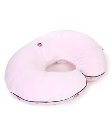 Chicco Boppy Pillow With Little Lady Slipcover- Pink