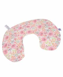Chicco 4 In 1 Boppy Cotton Slipcover French Rose Print - Off White