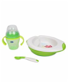 Chicco Meal Set Pack of 3 - White Green