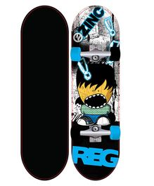 Zinc Kids Skateboard - Blue & Black