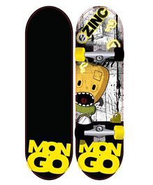 Zinc Mongo Kids Skateboard - Black & Yellow