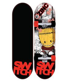 Zinc Switch Kids Skateboard - Black & Red