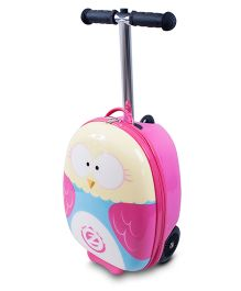 Zinc Flyte Midi Olivia the Owl Scooter Cum Travel Bag Pink - 18 Inches