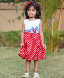 BunChi Fit & Flare Polka Dot Dress - Red