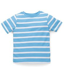 Mothercare Half Sleeves T-Shirt Stripes Print - Blue