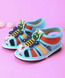Cute Walk by Babyhug Sandals Honeybee Motif  - Blue