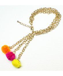 Asthetika Pompom Chain Bracelet - Multicolour