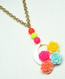 Asthetika Rose Chain Necklace - Multicolour