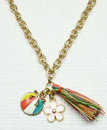 Asthetika Baby Bow Tassel Chain Necklace - Multicolour