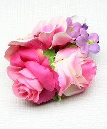 Asthetika Flowers Aligator Hair Clip - Pink & Purple