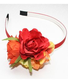 Asthetika Rose Bunch Hair Band - Red