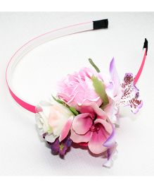 Asthetika Flower Bouquet Hair Band - Pink