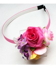 Asthetika Roses Hair Band - Pink & Purple