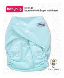 Babyhug Reusable Cloth Diaper With One Insert - Blue