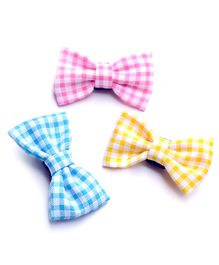 Pigtails & Ponys Pastel Gingham Bow Clips - Multicolor