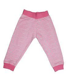 Kadam Baby Striped Ribbed Pajama - Pink