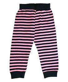 Kadam Baby Striped Ribbed Pajama - Pink & Black