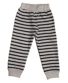 Kadam Baby Striped Ribbed Pajama - Grey & Black
