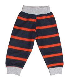 Kadam Baby Striped Ribbed Pajama - Orange & Black