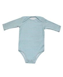 Kadambaby Full Sleeves Printed Onesies - Blue