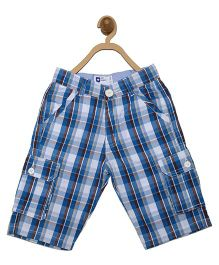 612 League Checks Bermuda Shorts With Side Pockets - Blue