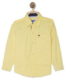 612 League Full Sleeves Shirt Printed - Yellow