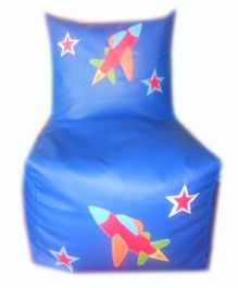 Kidzbash Bean Chair Cover Airplane Print - Blue