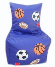 Kidzbash Bean Chair Cover Ball Print - Blue